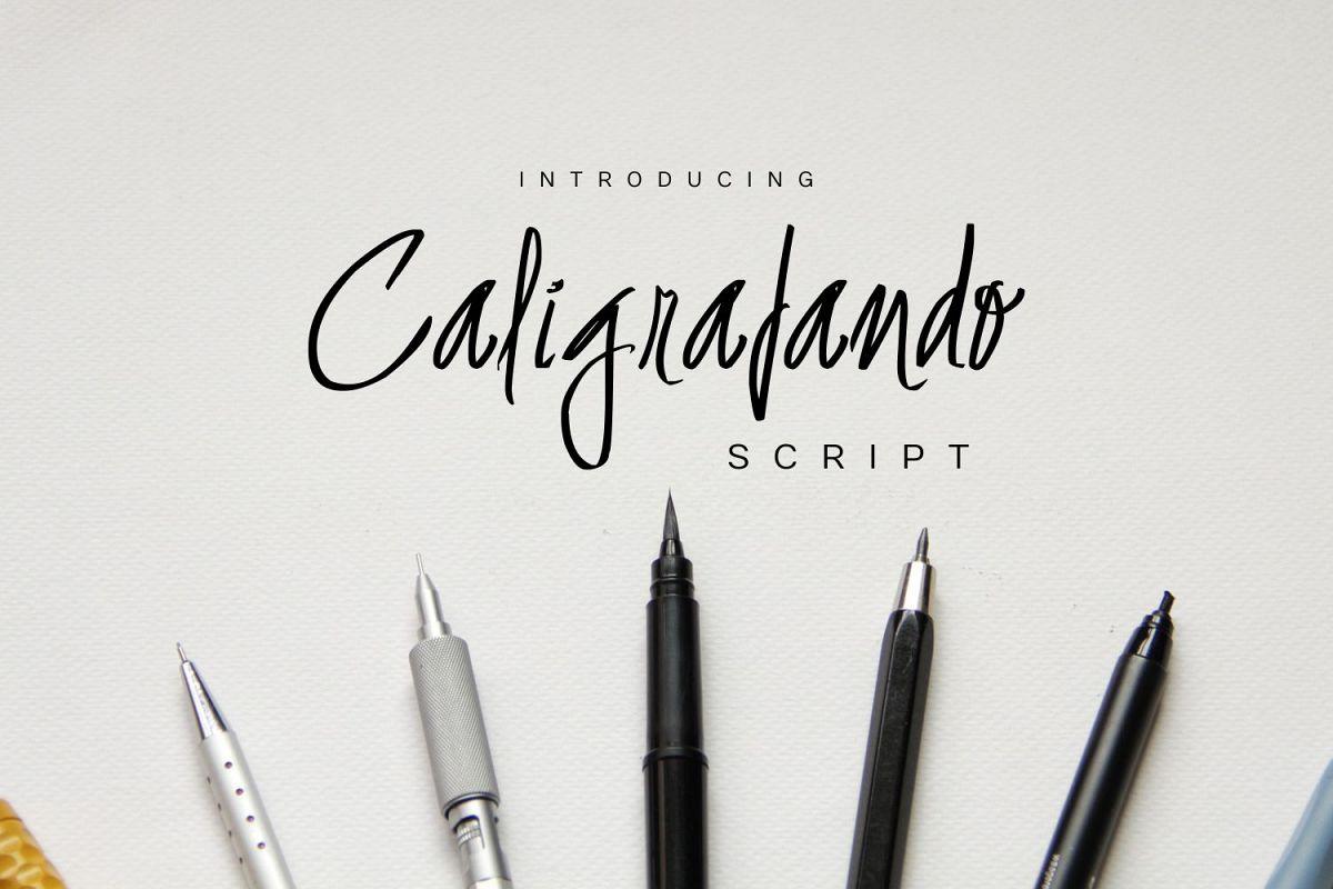 Caligrafando Script example image 1