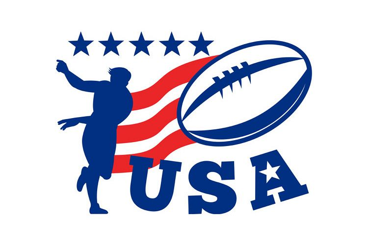 American USA Rugby Player passing Ball example image 1