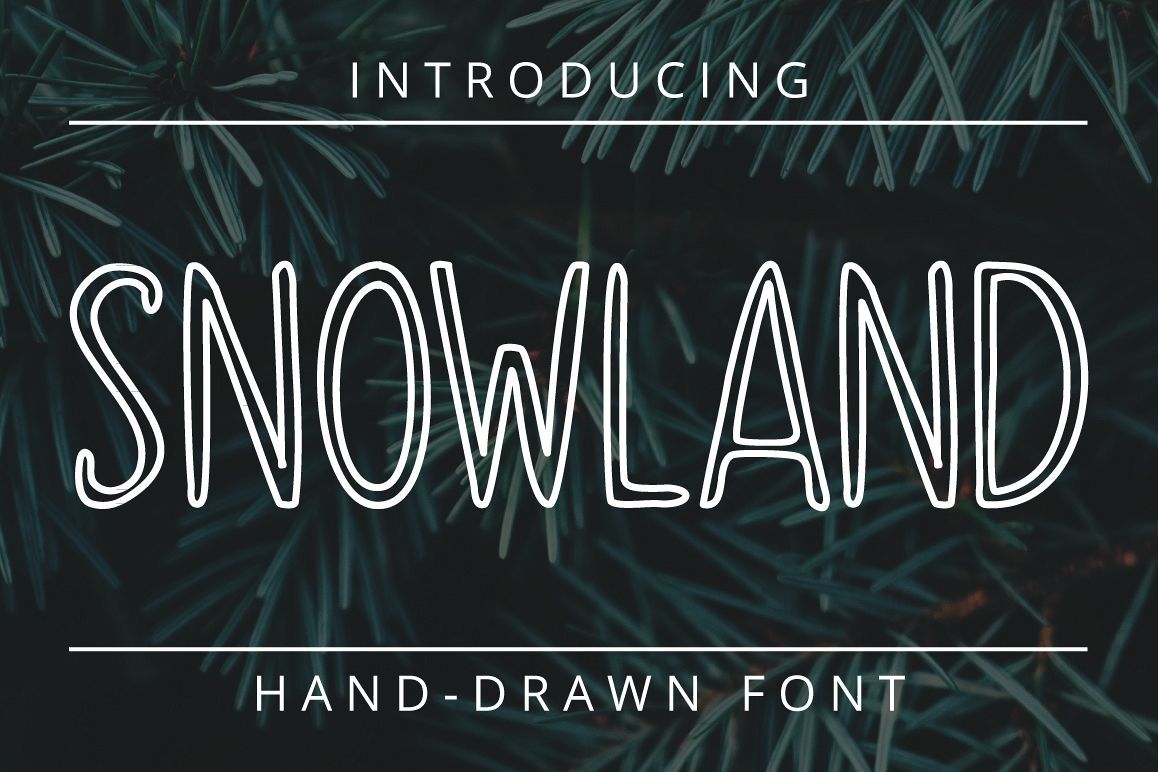 SNOWLAND - hand drawn winter font example image 1