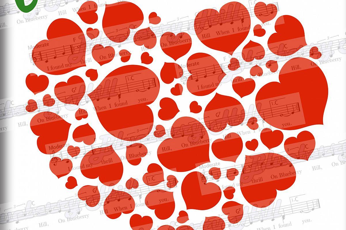 Love hearts svg - Heart Svg - Valentine hearts SVG - hearts example image 1