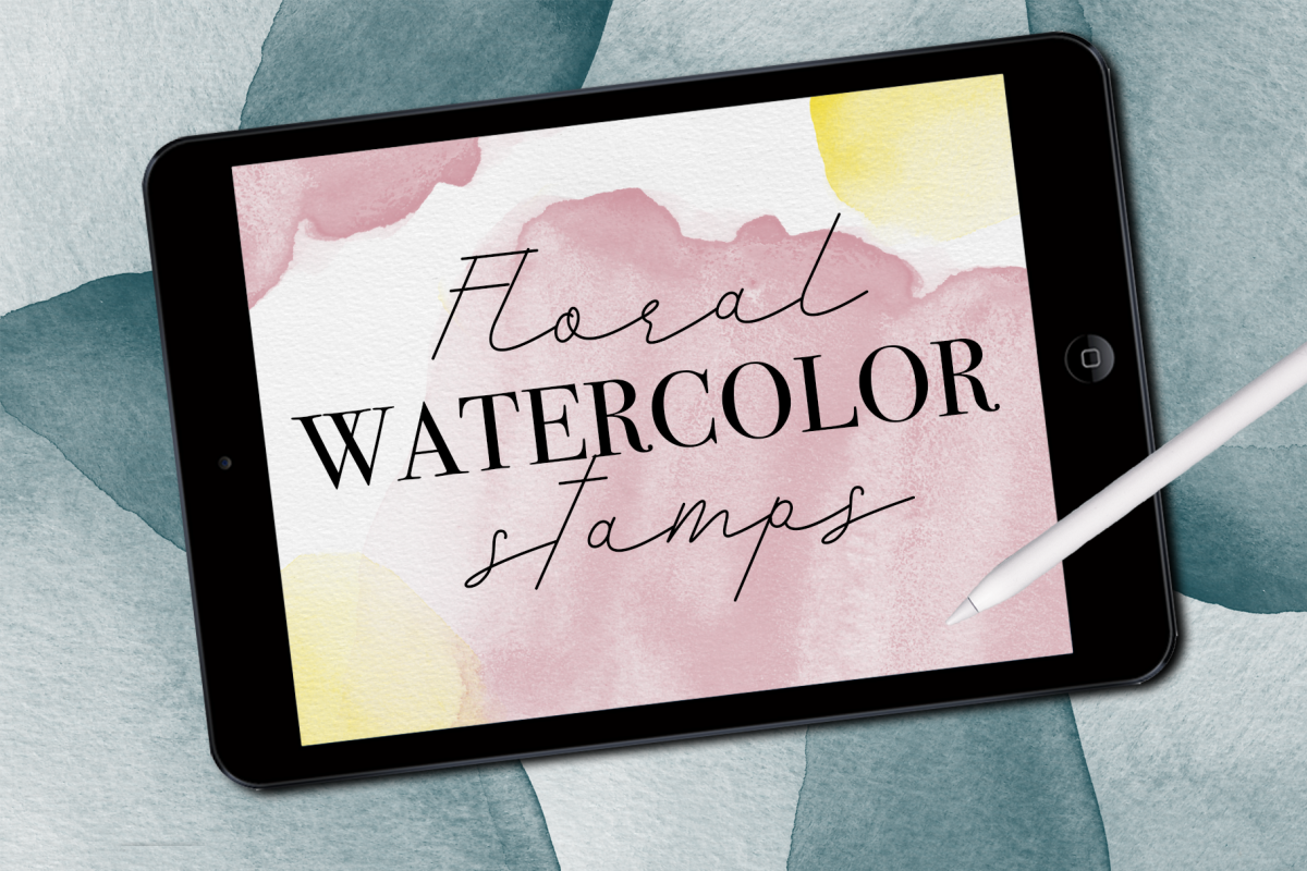 Watercolor Stamps for Procreate example image 1