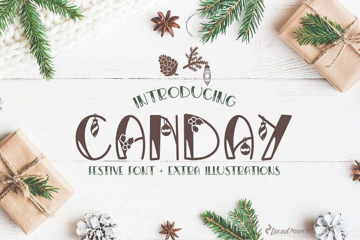 Canday - Festive Font with Extras example image 1