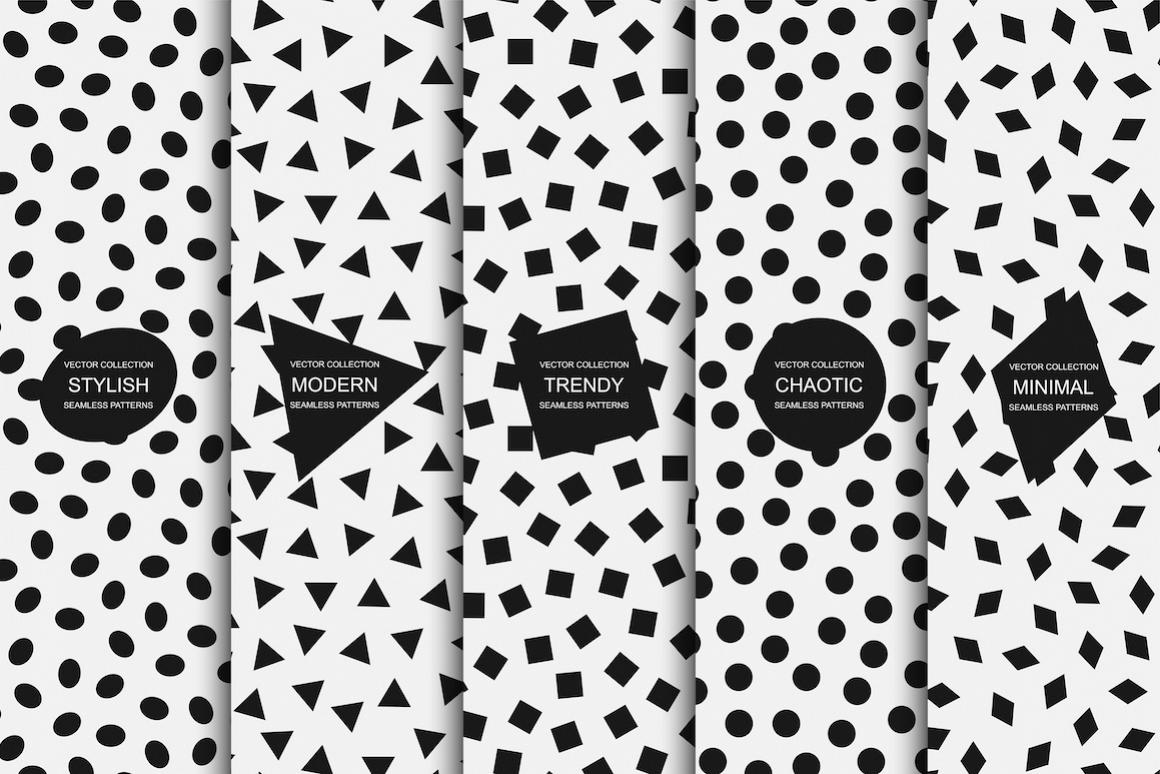 Modern seamless minimal patterns example image 1