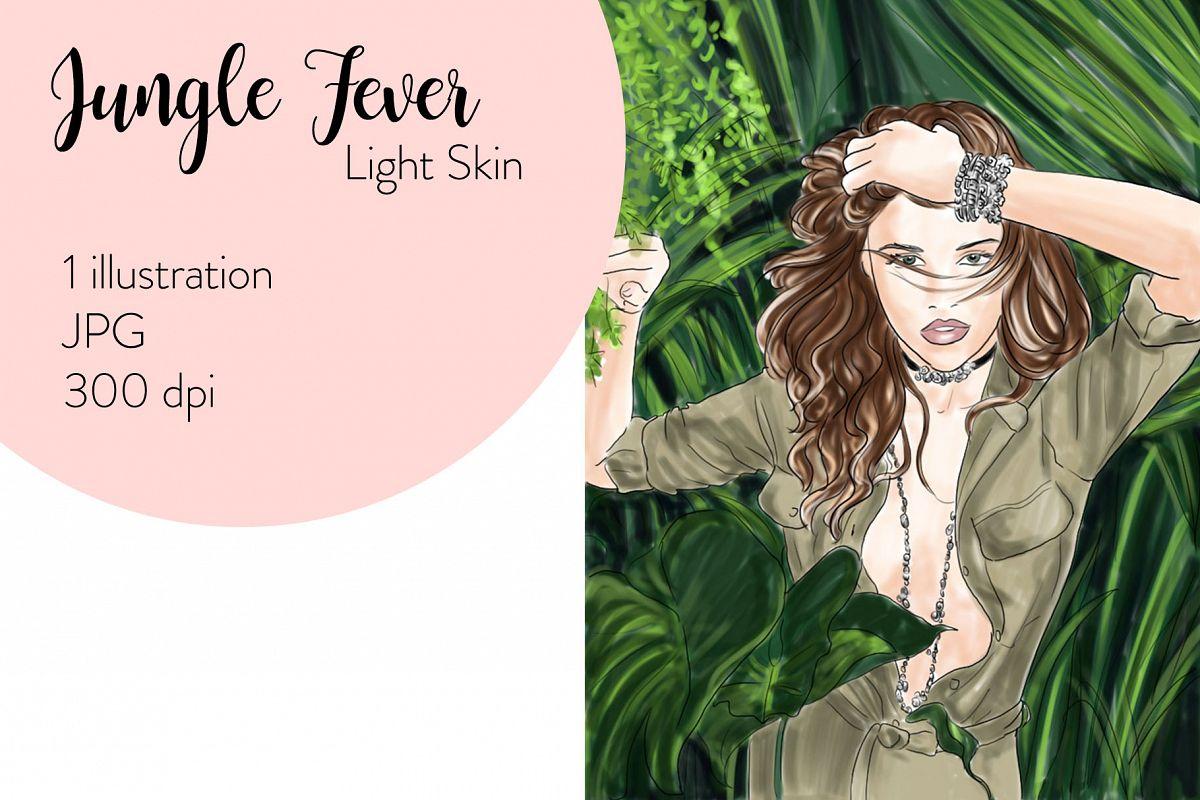 Fashion illustration - Jungle Fever - Light Skin example image 1
