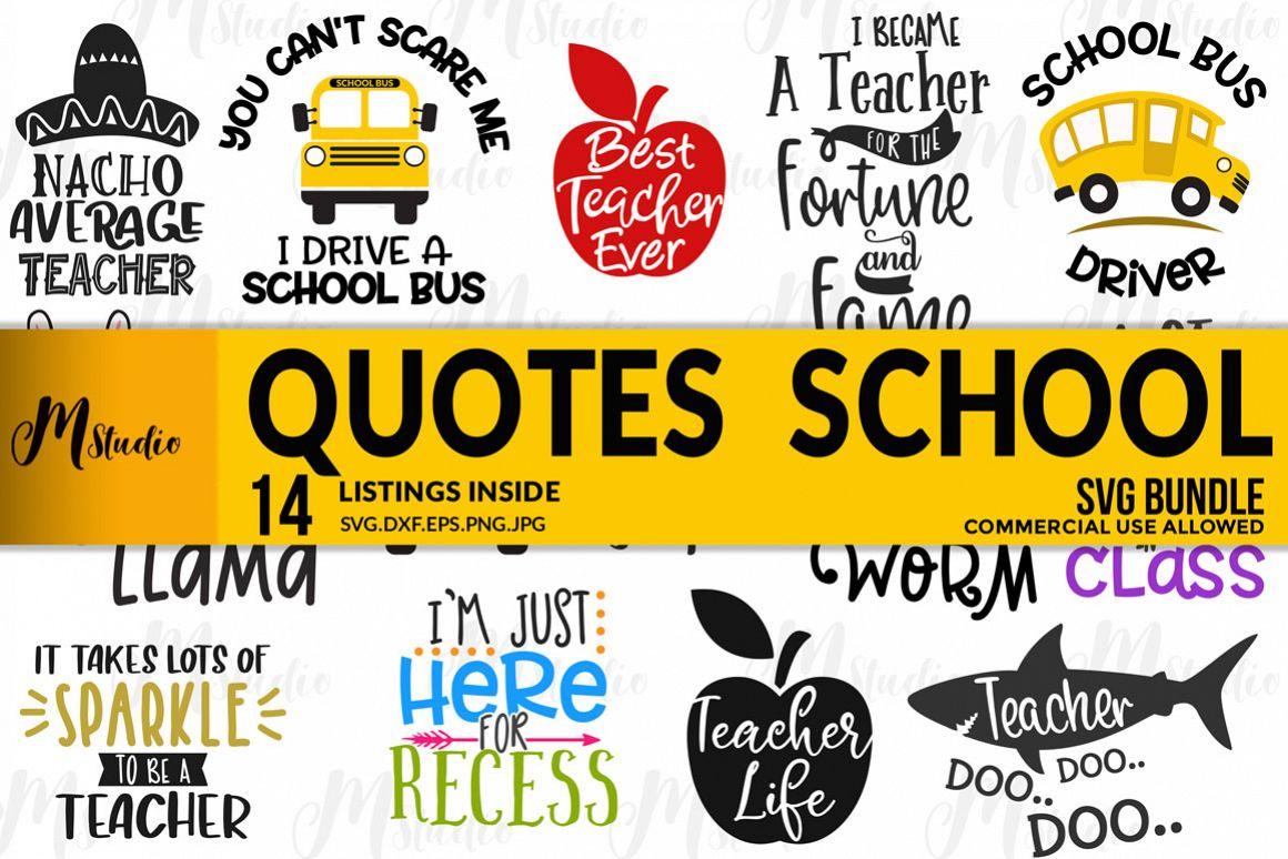 Quotes School Bundle Svg. example image 1