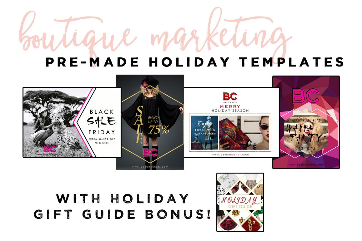 Holiday Boutique Marketing Templates example image 1