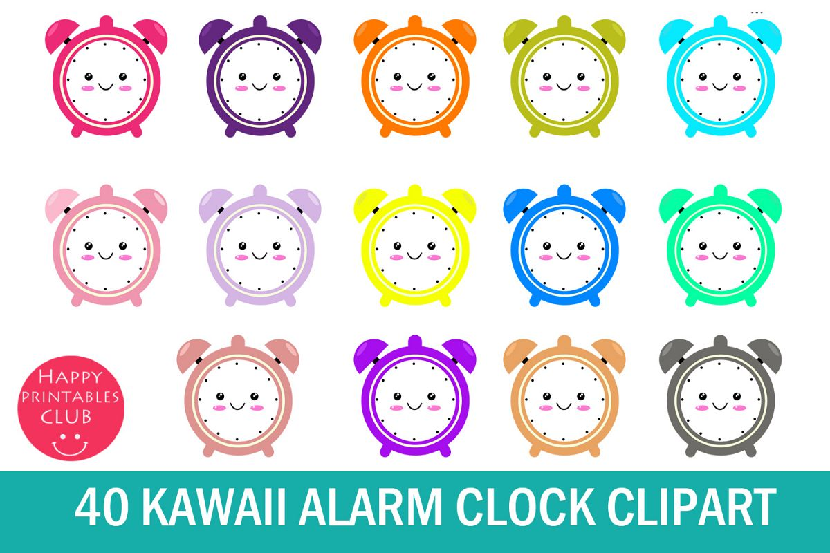 40 Kawaii Alarm Clock Clipart-Alarm Clock Clipart Cute