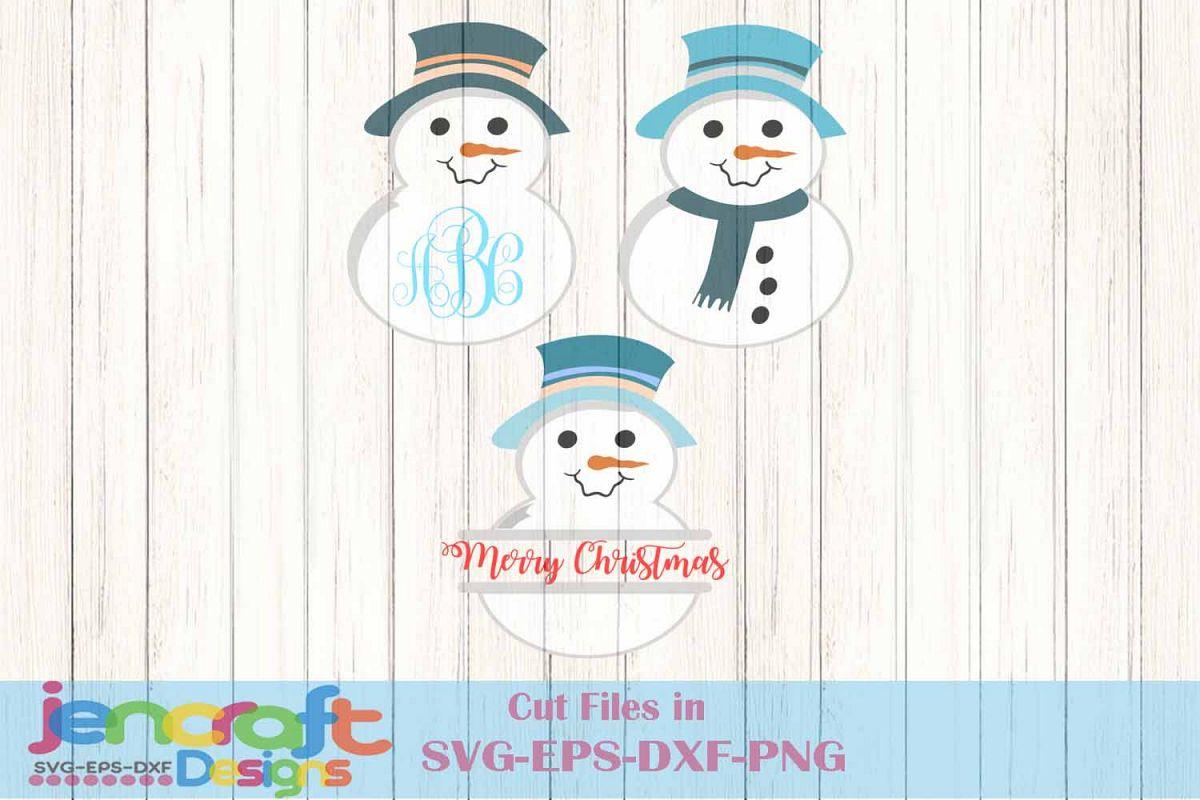 Snowman Monogram frame Bundle, Snowman | Design Bundles
