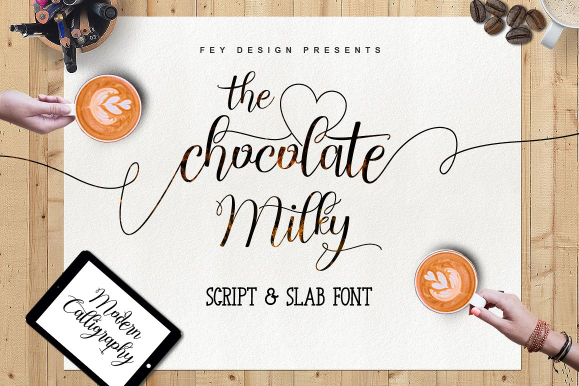 Chocolate Milky - Font Duo example image 1