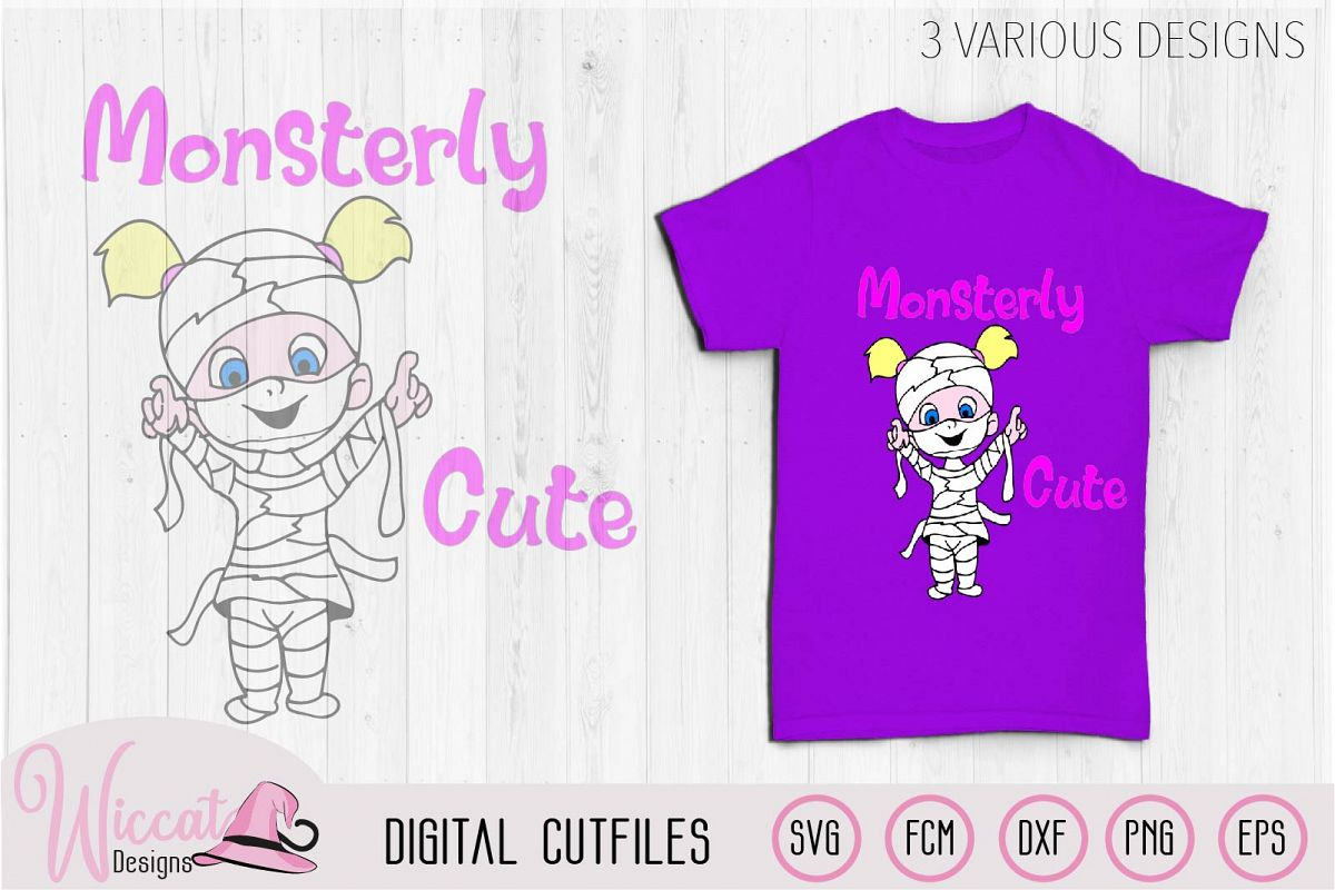 Mummies little monster svg cut file example image 1