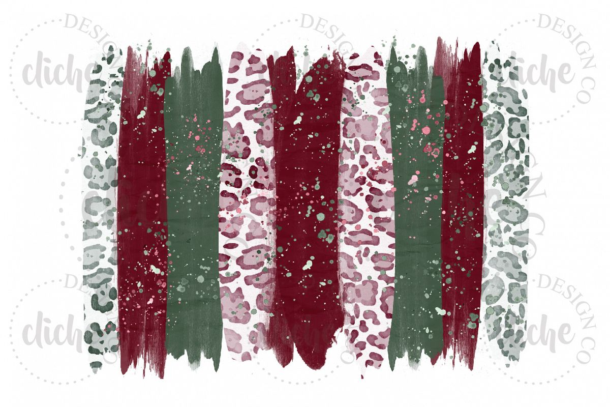 Christmas Paint Stroke Sublimation Design Background example image 1