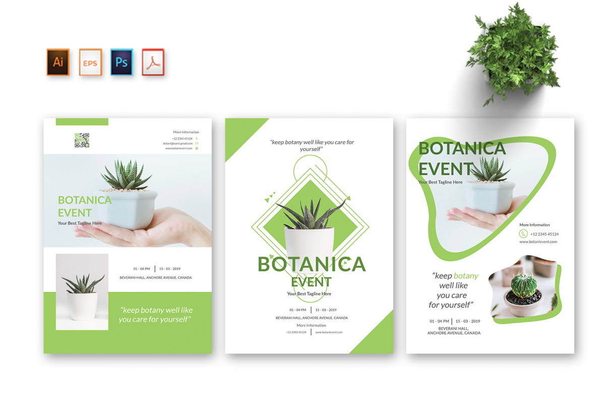 Botani Event Flyer & Poster example image 1