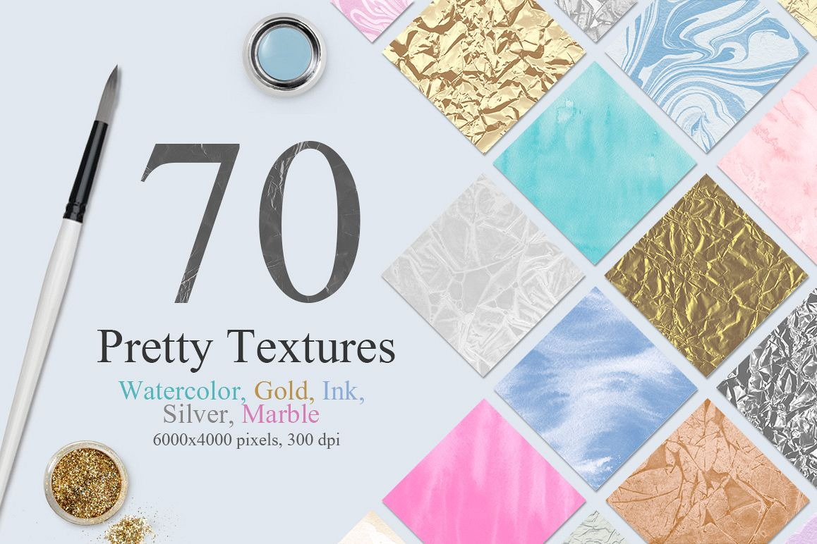 70 Watercolor, Gold, Marble Textures example image 1