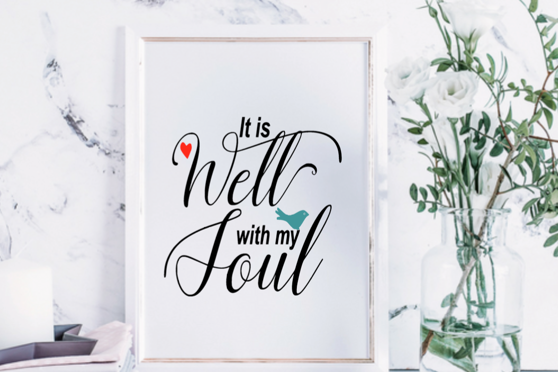 image relating to It is Well With My Soul Printable titled It is properly with my soul wall artwork Print Printable Christian Religion Scripture estimate printable artwork dwelling decor print Hymn framable wall artwork print
