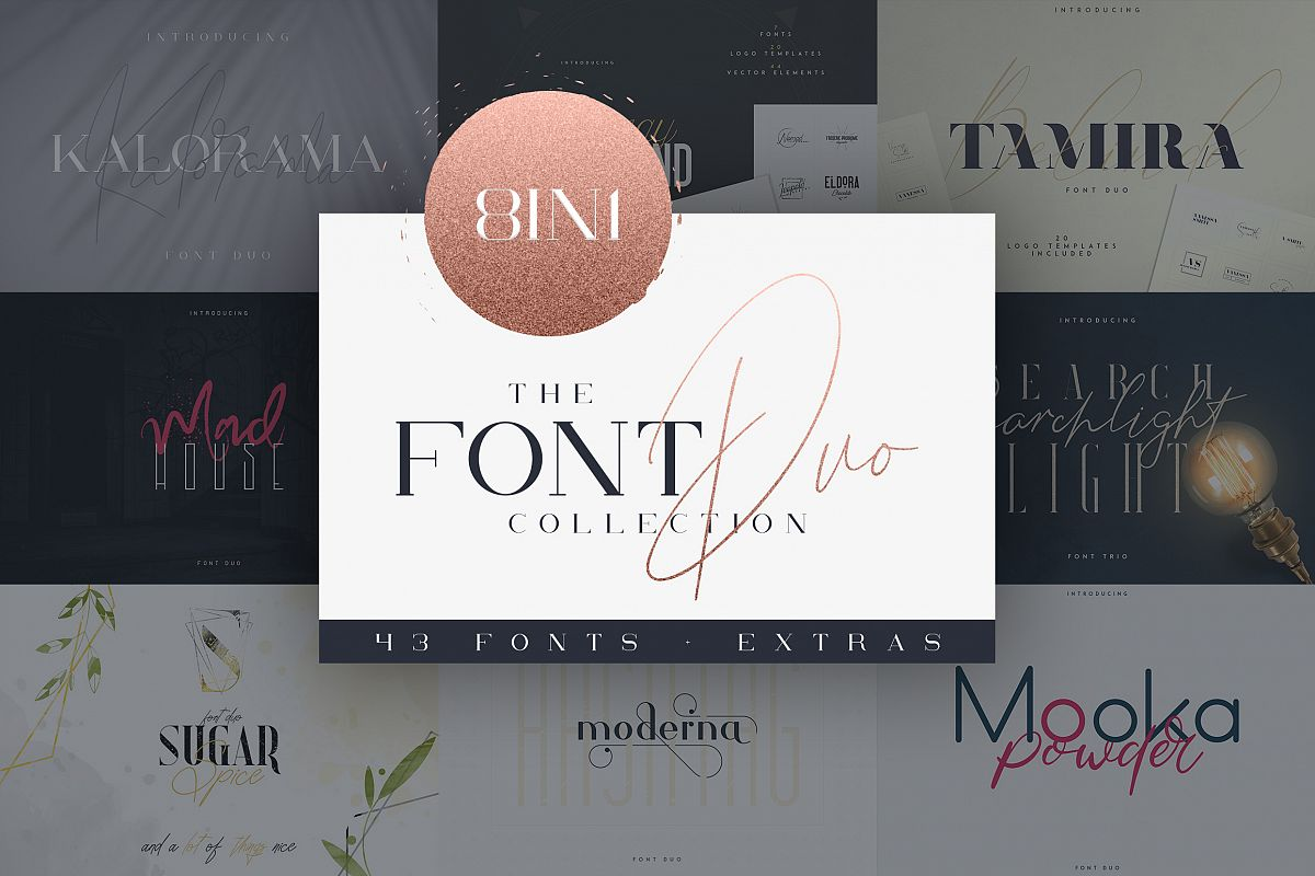 The Font Duo Collection | 8in1 example image 1