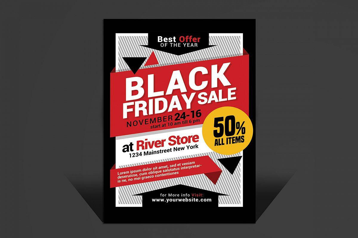 black friday sale flyer by muhamadiqbal design bundles