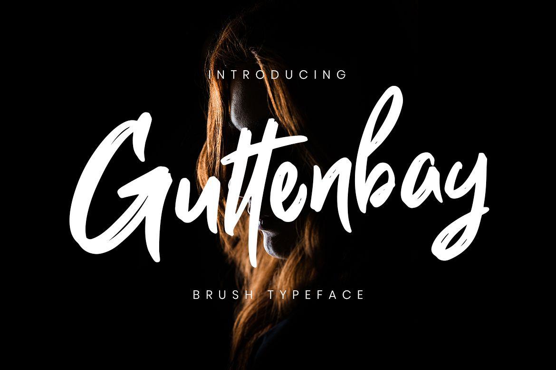 Guttenbay Brush Typeface example image 1