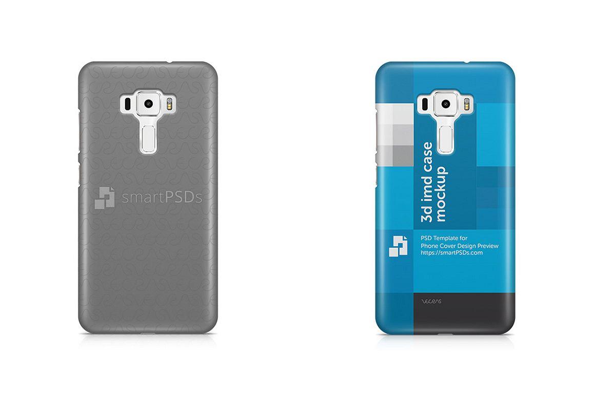 Asus Zenfone 3 ZE552KL 3d IMD Mobile Case Design Mockup 2016 example image 1