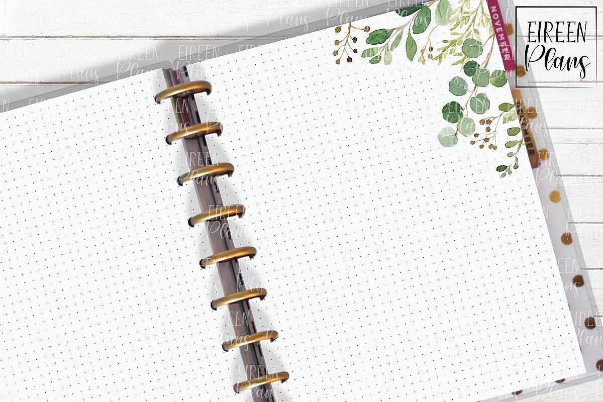 Set of greenery notes for the Classic Happy Planner example image 1