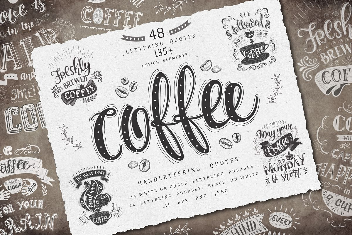 Coffee. Handlettering Quotes. example image 1