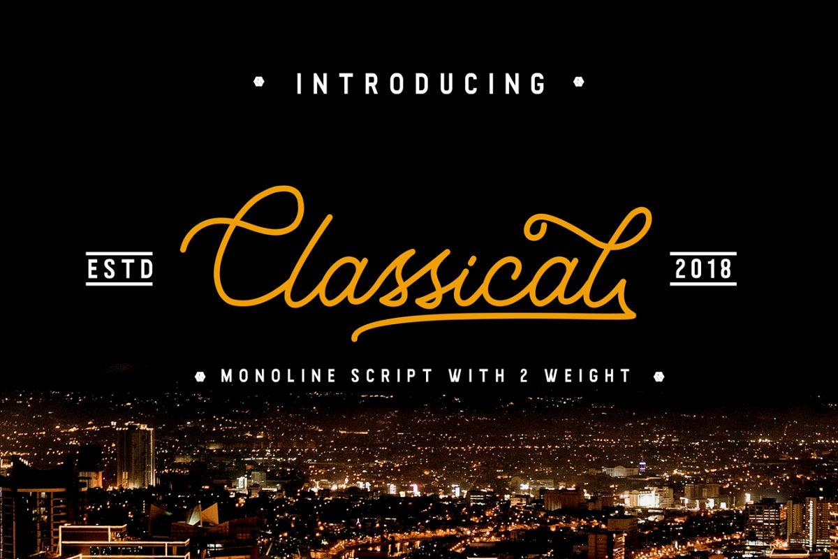 Classical / Monoline Script example image 1