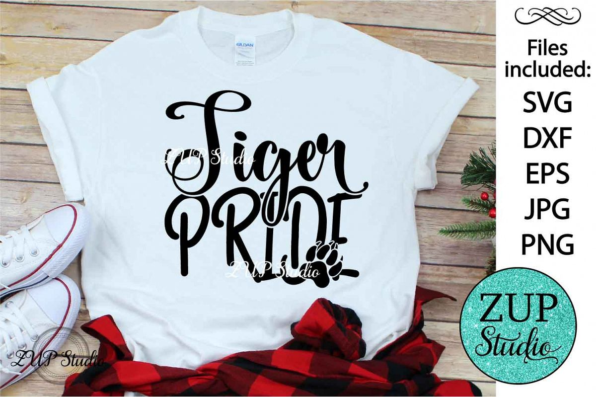 Tiger Pride text word art svg design 460 example image 1