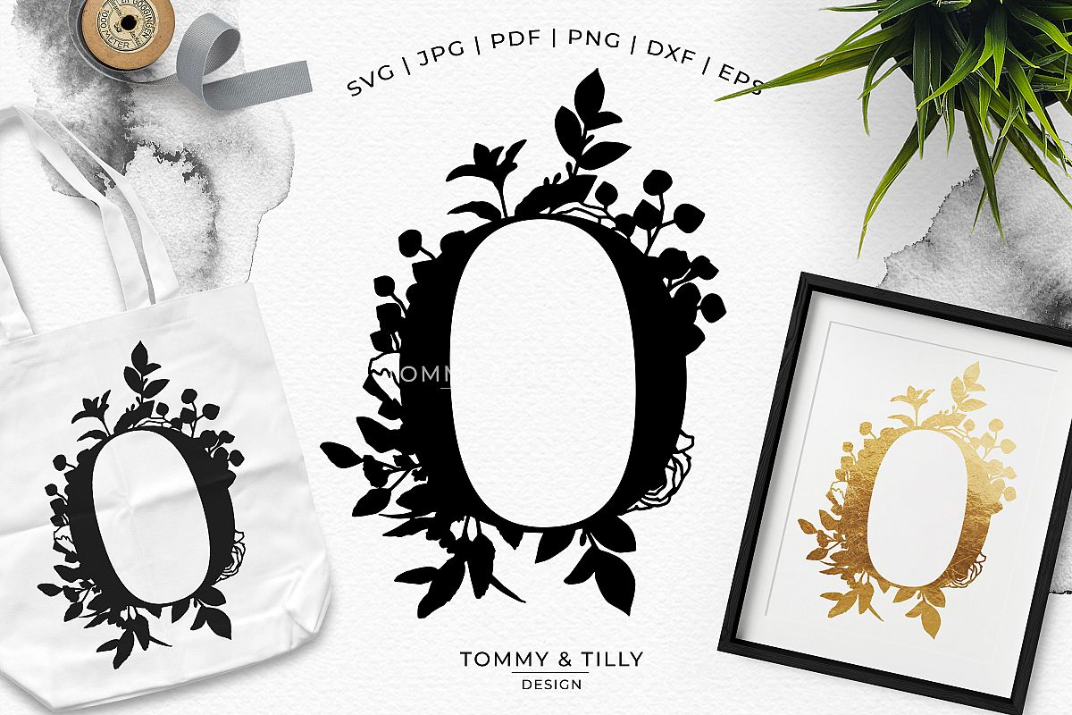 O Bouquet Letter Design - Paper Cut SVG EPS DXF PNG PDF JPG example image 1
