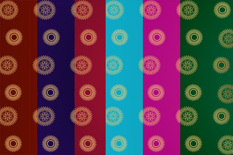 Golden Paisley Gradient Background example image 1