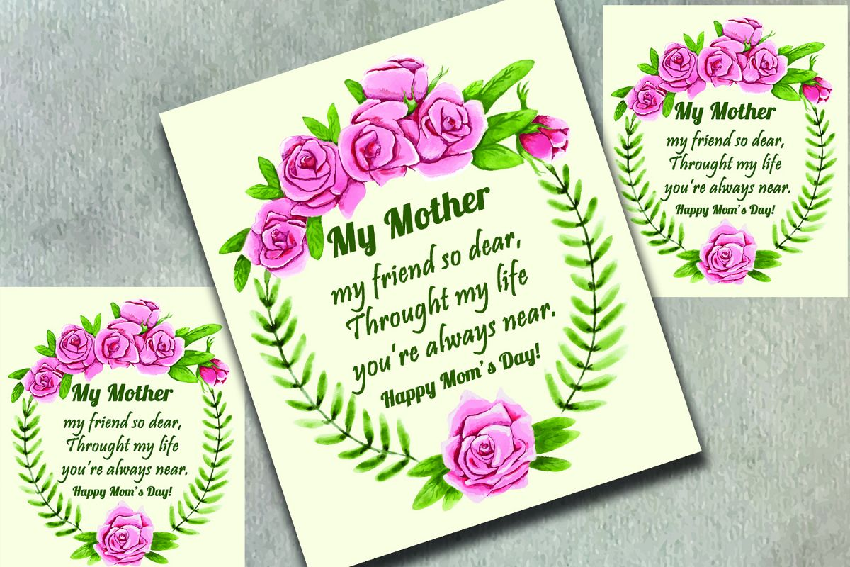 Floral mothers day greeting card by ma design bundles floral mothers day greeting card example image m4hsunfo
