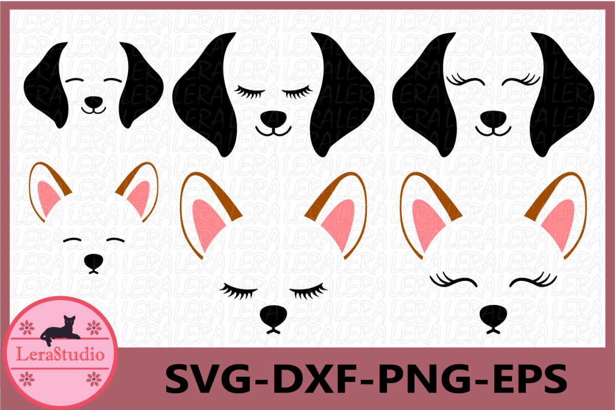 Dog Face SVG, Puppy Svg, Dog svg, Hound Dog Face, Clipart example image 1
