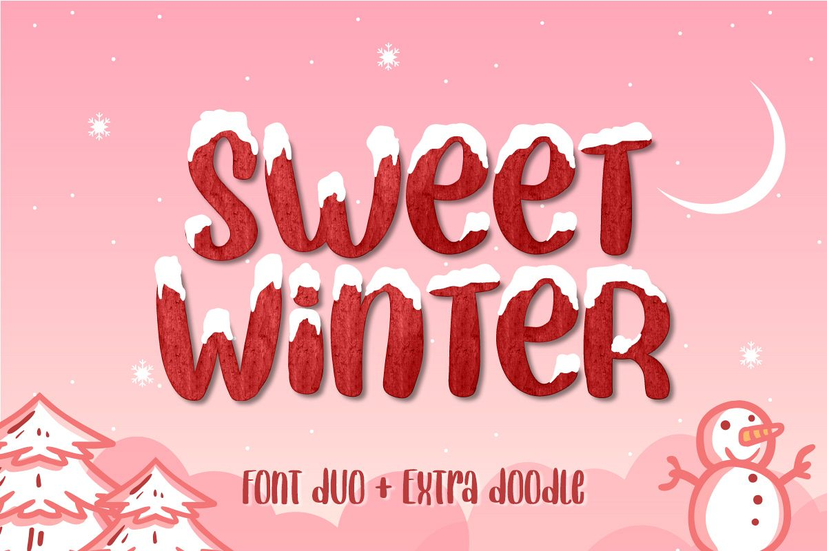 Sweet Winter - Layered Font Duo example image 1