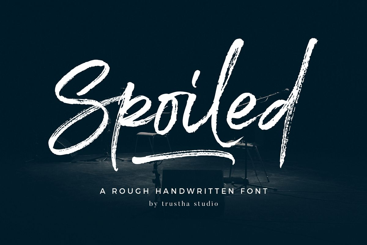 Spoiled Brush Font example image 1