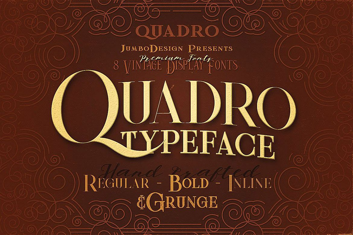 Quadro - Display Font example image 1