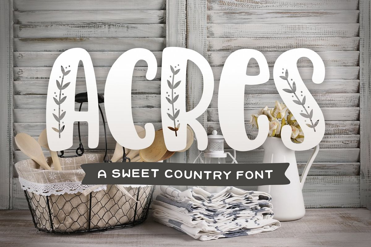 Acres Font example image 1