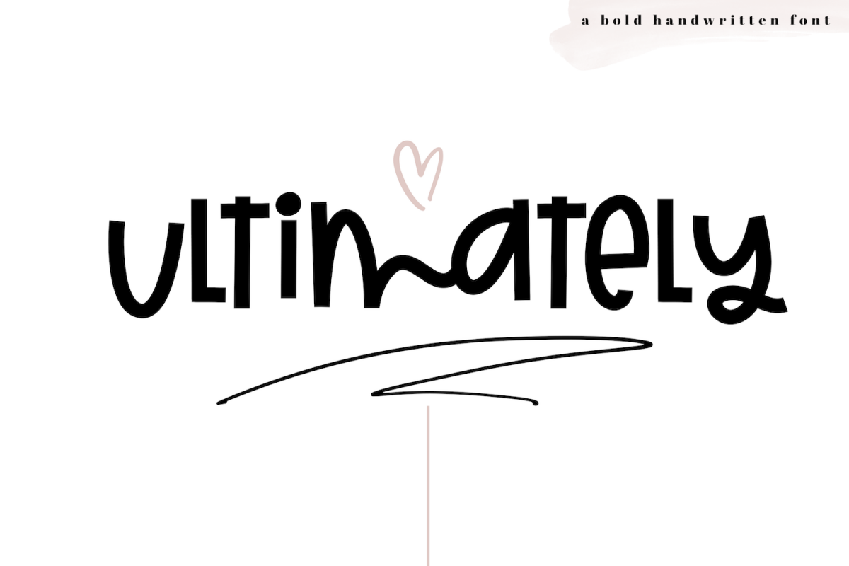 Ultimately - A Bold Handwritten Font example image 1