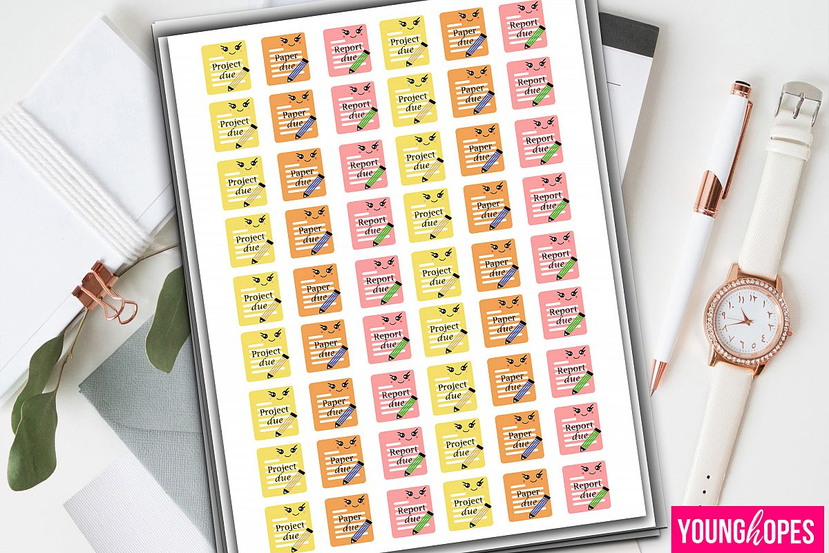 Student Planner Stickers example image 1