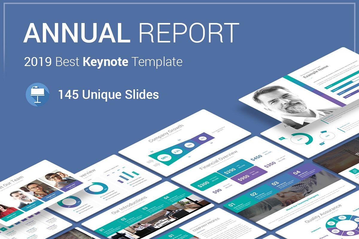 Annual Report Keynote Template example image 1