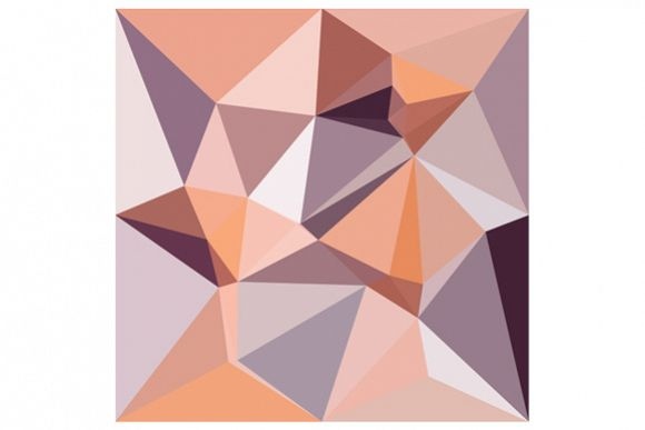 Almond Beige Abstract Low Polygon Background example image 1