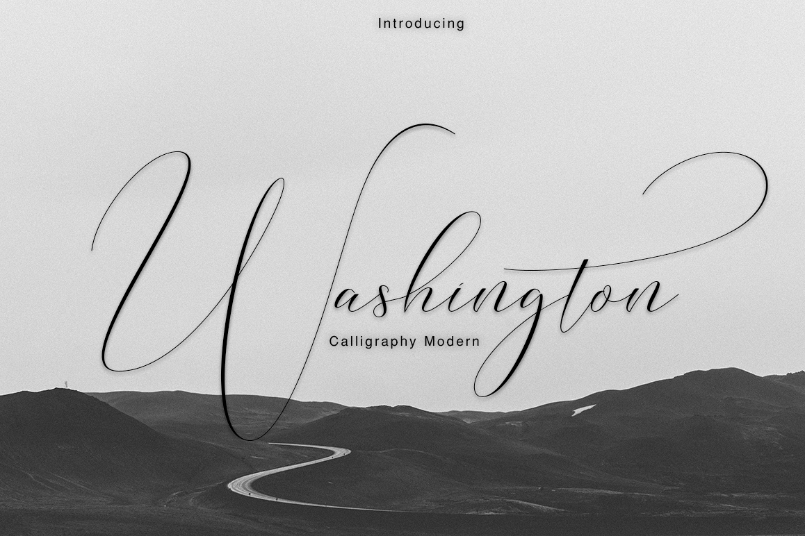 Washington Calligraphy Modern example image 1