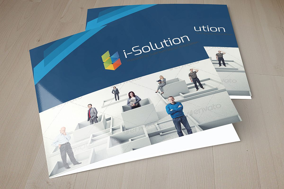 Professional Business Square Trifold Brochure example image 1