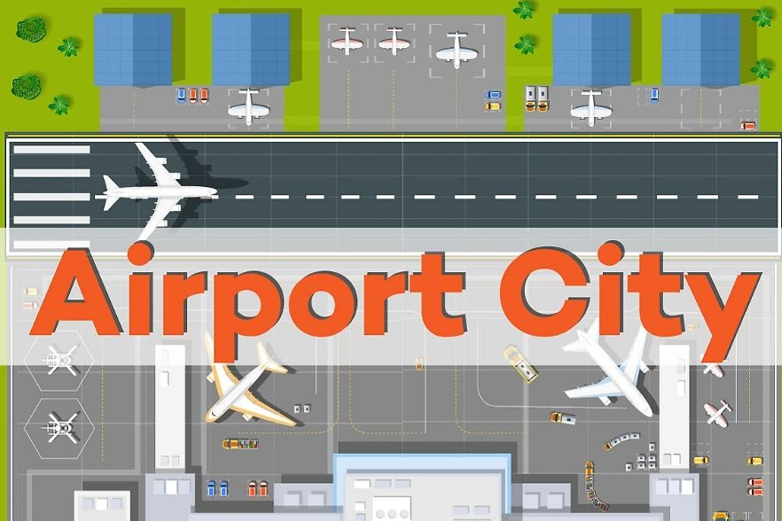 A large industrial city airport. example image 1