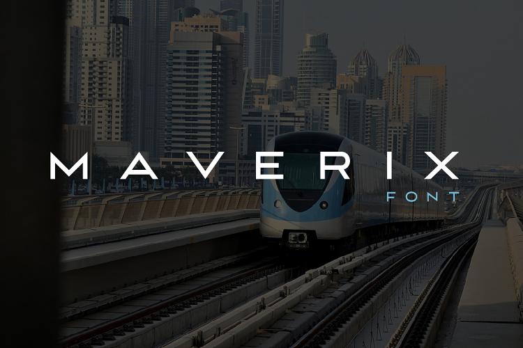 MAVERIX font example image 1
