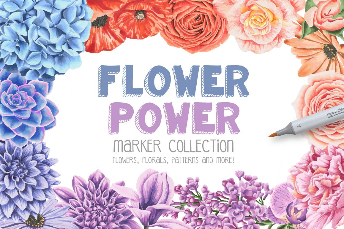Flower Power Marker Collection example image 1