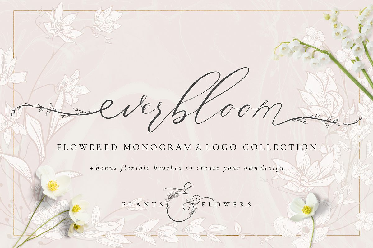 Flowered Monogram & Logo Collection example image 1