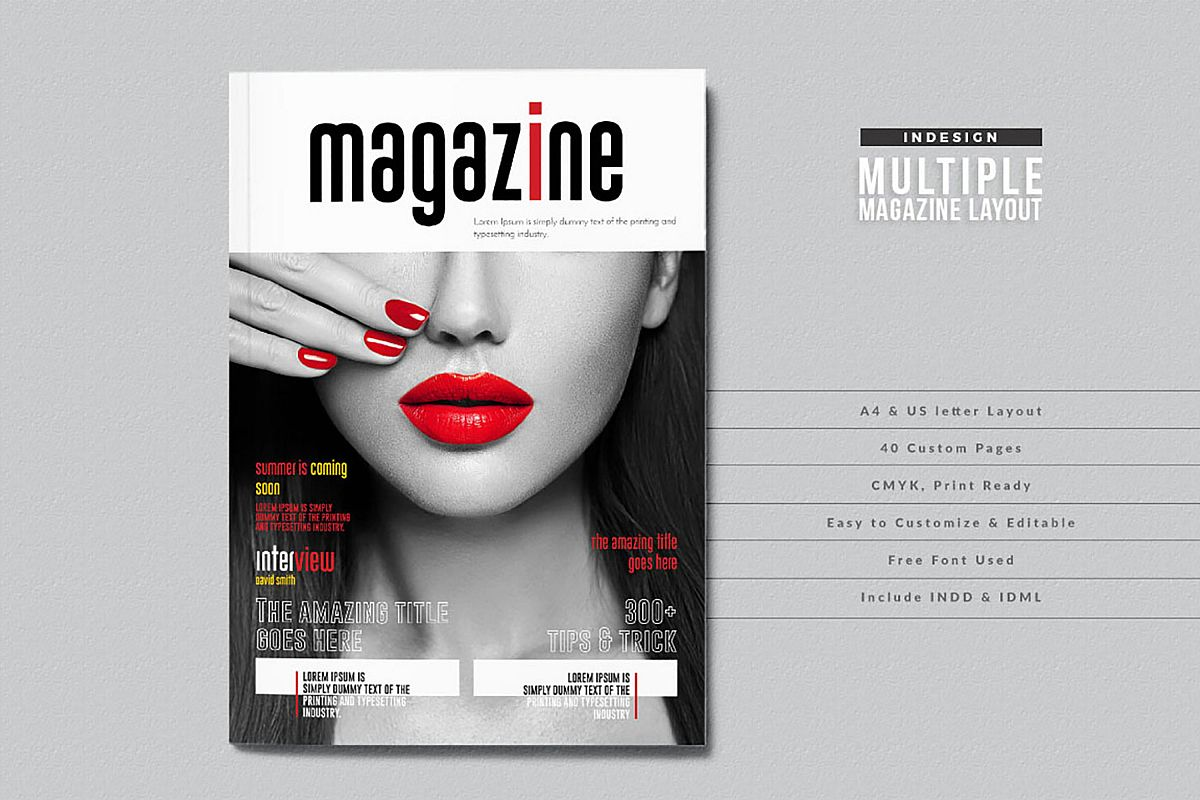 InDesign Multiple Magazine Layout example image 1
