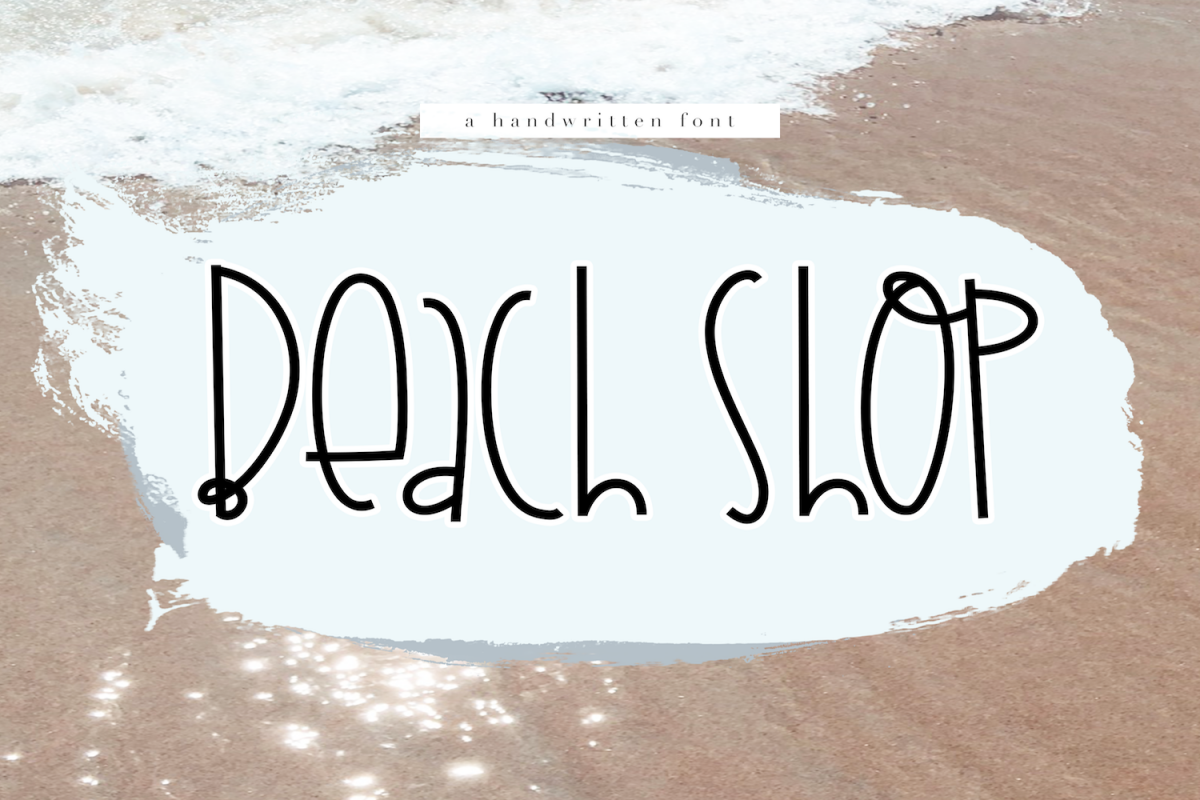 Beach Shop - A Quirky Handwritten Font example image 1