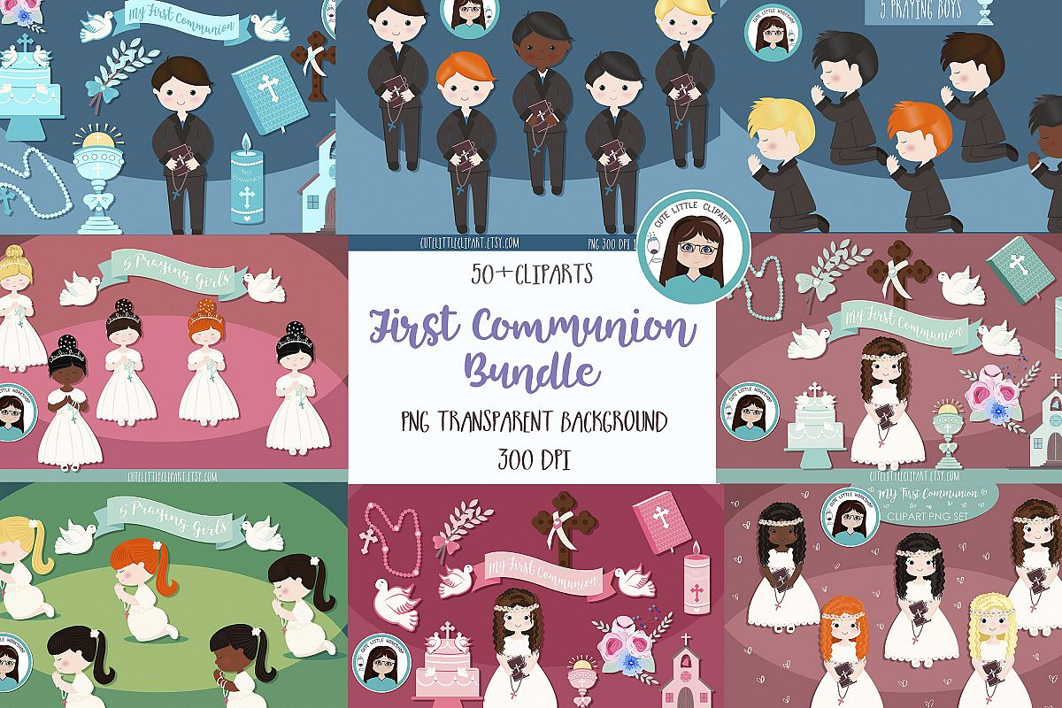 First Communion Cliparts Bundle example image 1