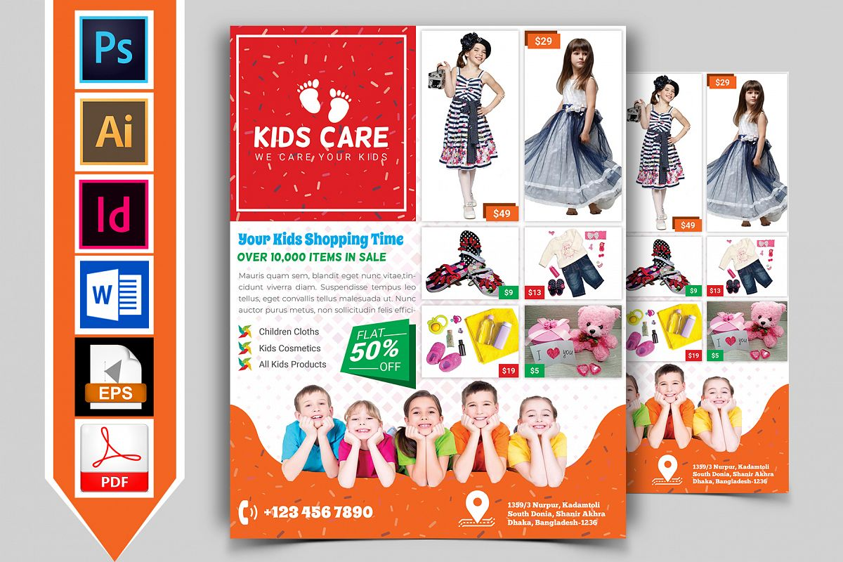 Kids Fashion Shop Flyer Vol-03 example image 1