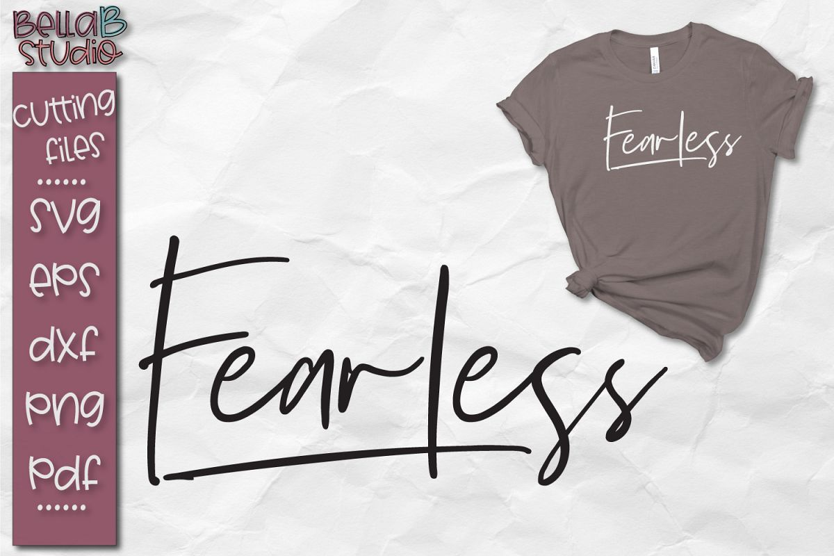 Fearless SVG file, Christian SVG Cut file example image 1