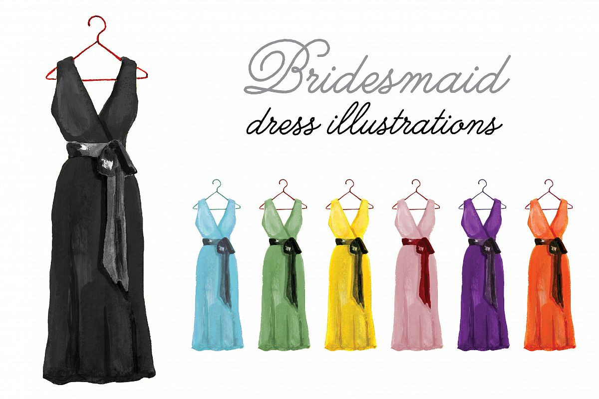 Bridesmaid Dress Illustrations example image 1